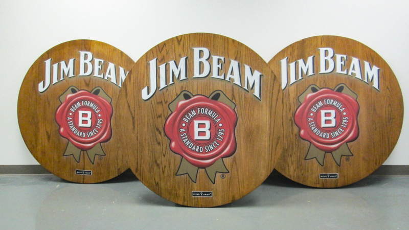 Custom printed tradeshow tables for Jim Beam by Pensacola Sign
