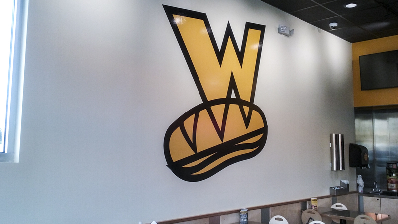 Whichwich vinyl wall graphic - Pensacola Sign Environmental Graphics