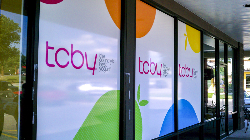 TCBY window wraps by Pensacola Sign