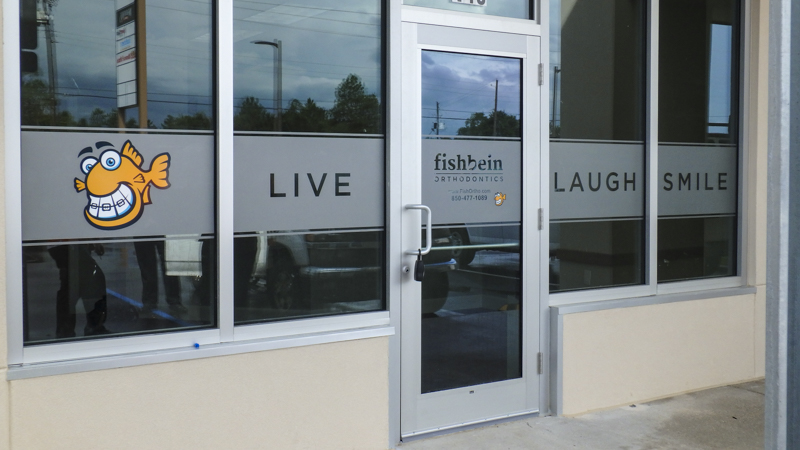 Fishbein Orthodontics window graphics by Pensacola Sign