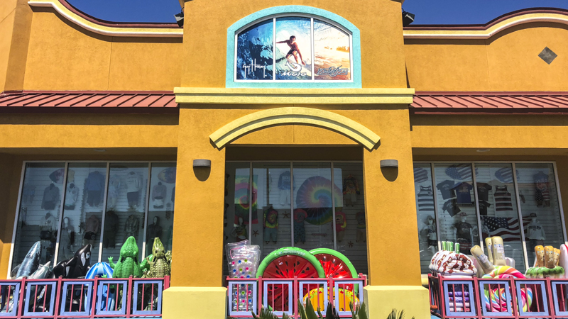 Tropical Waves window graphics - Pensacola Sign Environmental Graphics