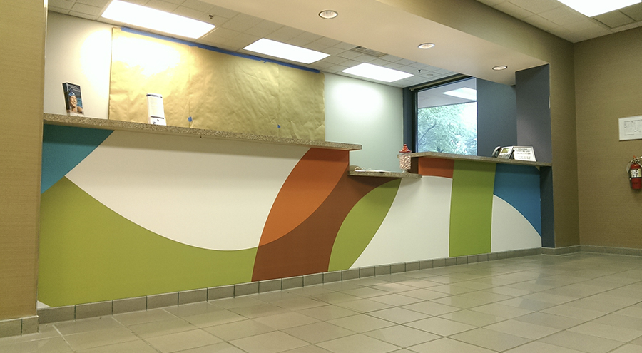 Environmental graphics wall murals for Environmental graphics wall mural