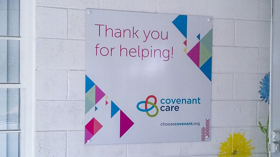 Covenant Care custom posters by Pensacola Sign