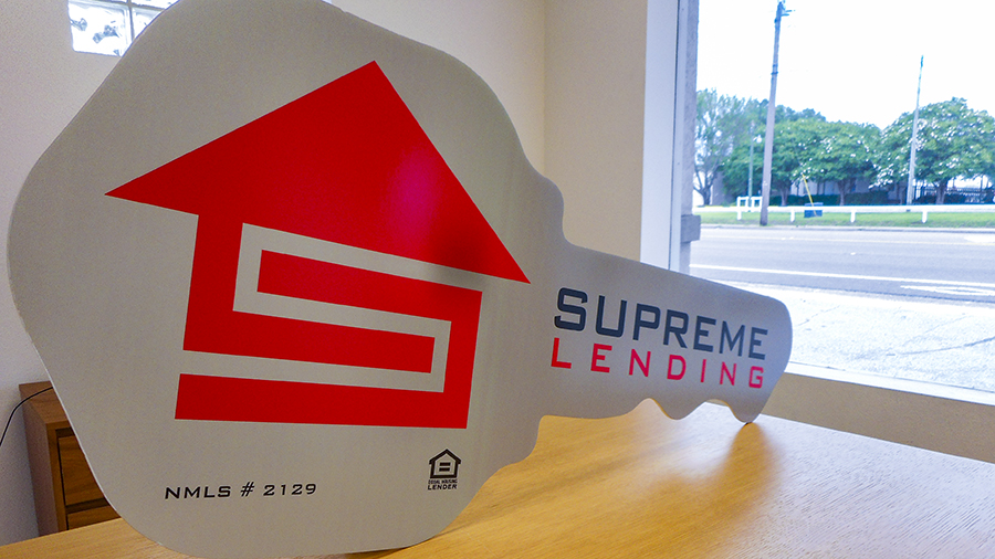 Supreme Lending custom poster by Pensacola Sign