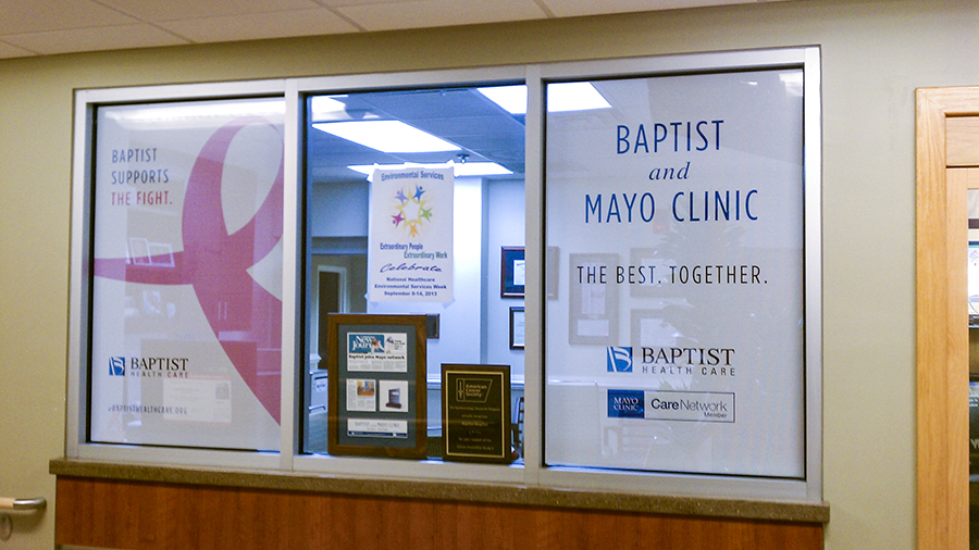 Baptist Medical Group custom posters by Pensacola Sign