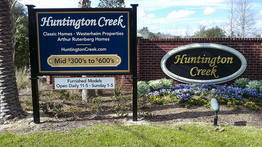 Huntington Creek custom informational, safety and utility signs by Pensacola Sign