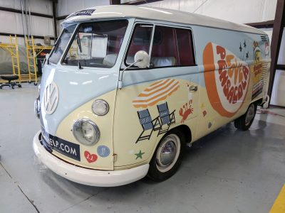 406Transported Through History With A VW Bus Wrap
